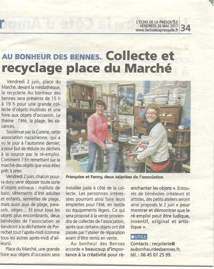 article presse au bonheur des bennes recyclerie saint nazaire 44