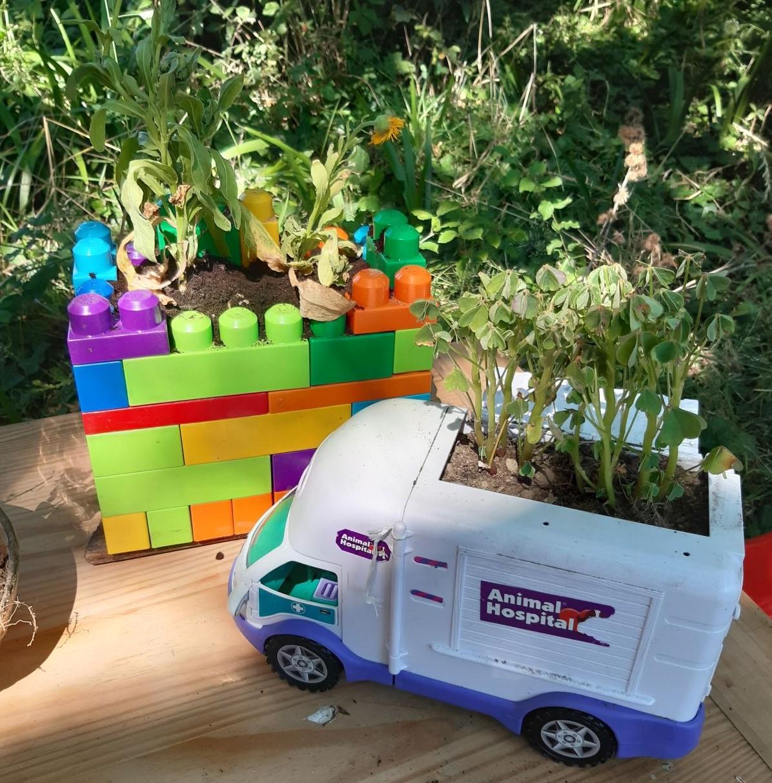 réemploi jardinage jardin Gwazhek La Baule saint-Nazaire au bonheur des bennes