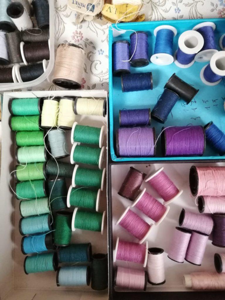 Vente spéciale mercerie fils couture recyclerie au bonheur des bennes Saint-Nazaire 44