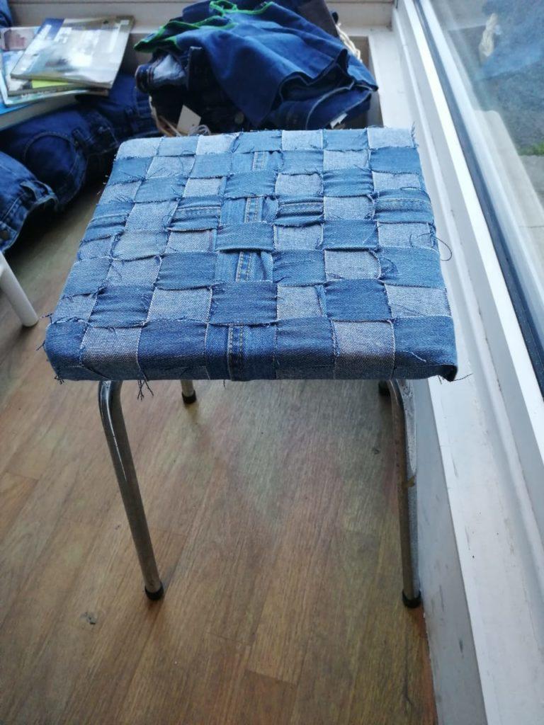 vieux jean customisation réemploi recyclerie au bonheur des bennes St-Nazaire 44
