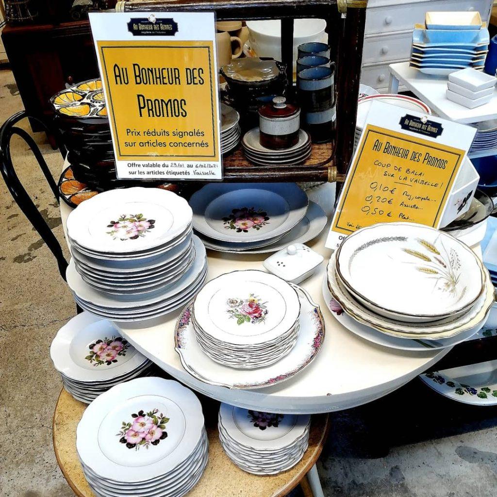 Promotion vaisselle recyclerie au bonheur des bennes 44 st-nazaire