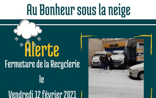Au Bonheur sous la neige - fermeture vendredi 12.02.21