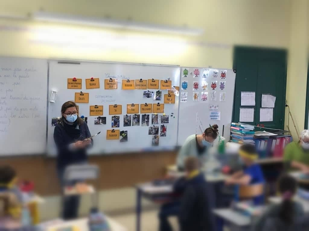 Intervention scolaire semaine du développement durable réemploi recyclerie au bonheur des bennes saint nazaire 44