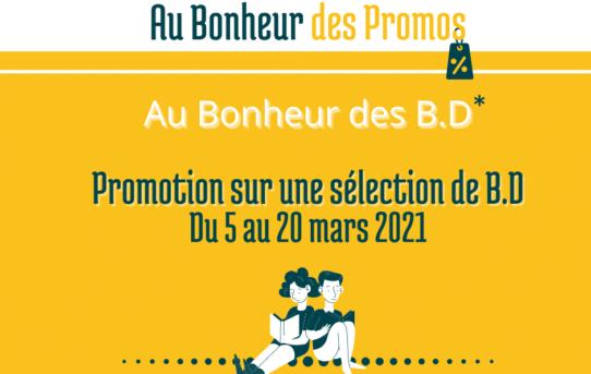 Au Bonheur des Promos - BD du 5 au 20 mars