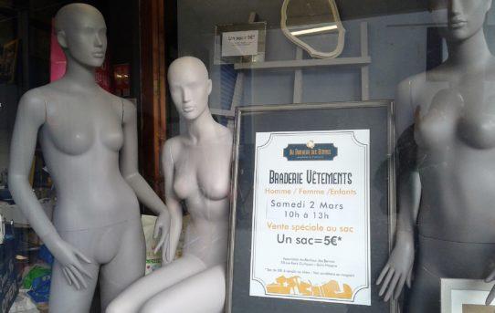 """Braderie Textile - Vente """"aux sacs"""" samedi 2 mars de 10h à 13h"""