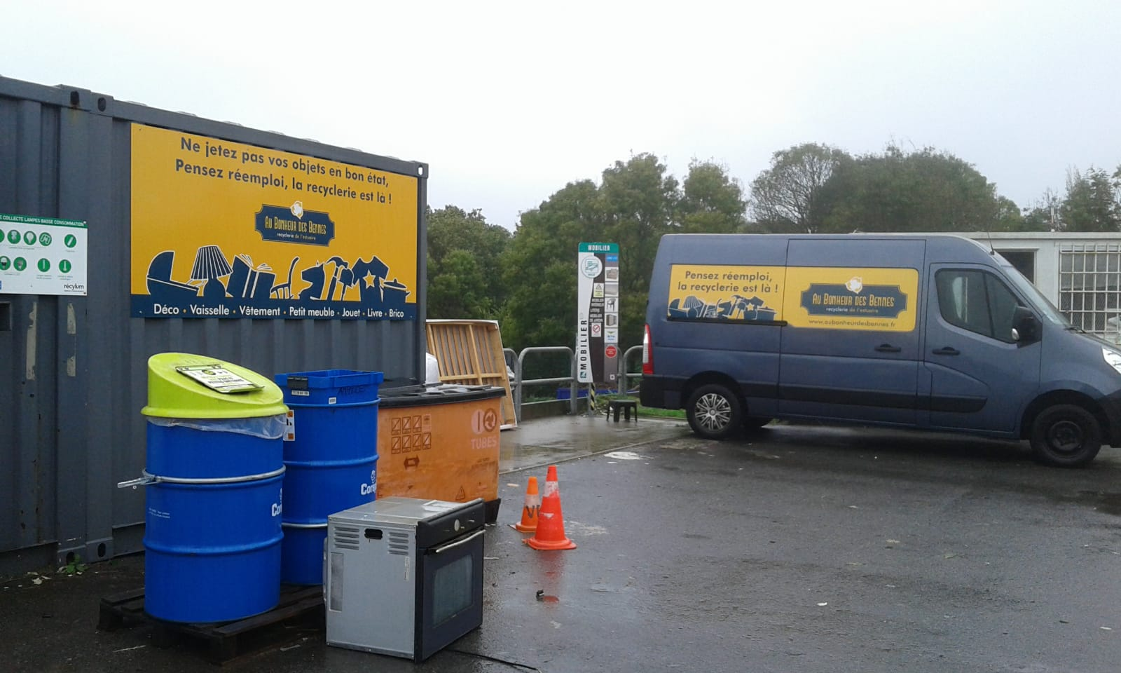 Déchèterie pornichet cuneix collecte caisson reemploi au bonheur des bennes 44 saint-nazaire