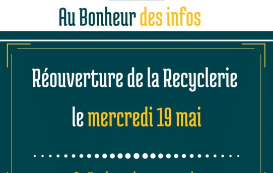 Réouverture de la Recyclerie
