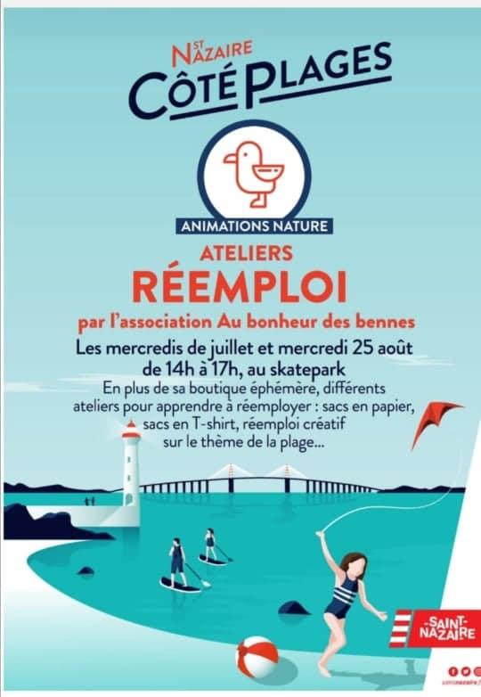 saint nazaire côté plages réemploi ateliers association mercredi au bonheur des bennes 44